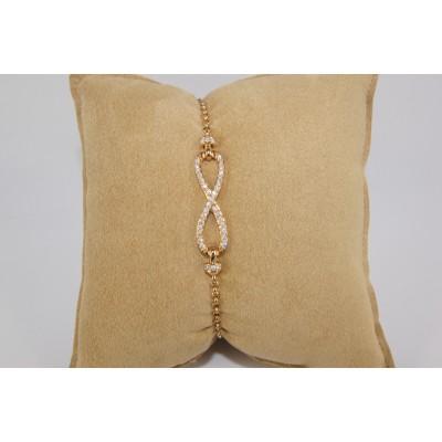 18 karat rose gold diamond bracelet.