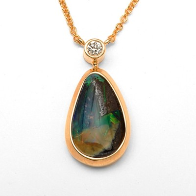DIamond & Opal Necklace