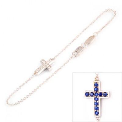 Double Cross Bracelet B16