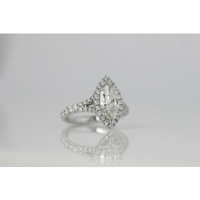 Platinum engagement ring.
