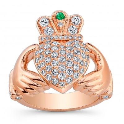 18K Rose Gold Claddagh Ring