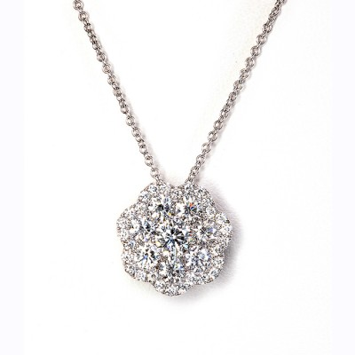 White Gold Diamond Pendant