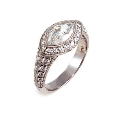 Platinum Marquise Diamond Ring