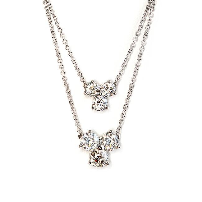 Large and Small Diamond Pendant