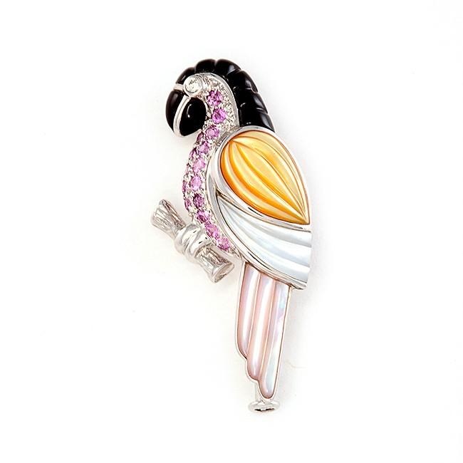 Gold Parakeet Pin