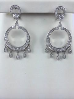 Beautiful diamond chandelier earrings.