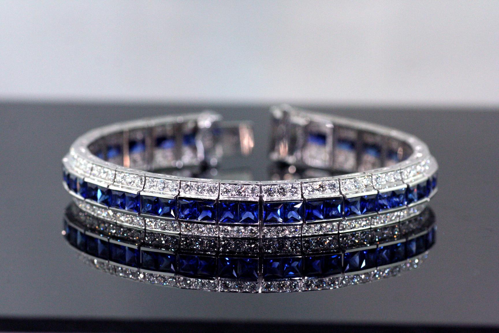 18 Karat Diamond and Sapphire bracelet.