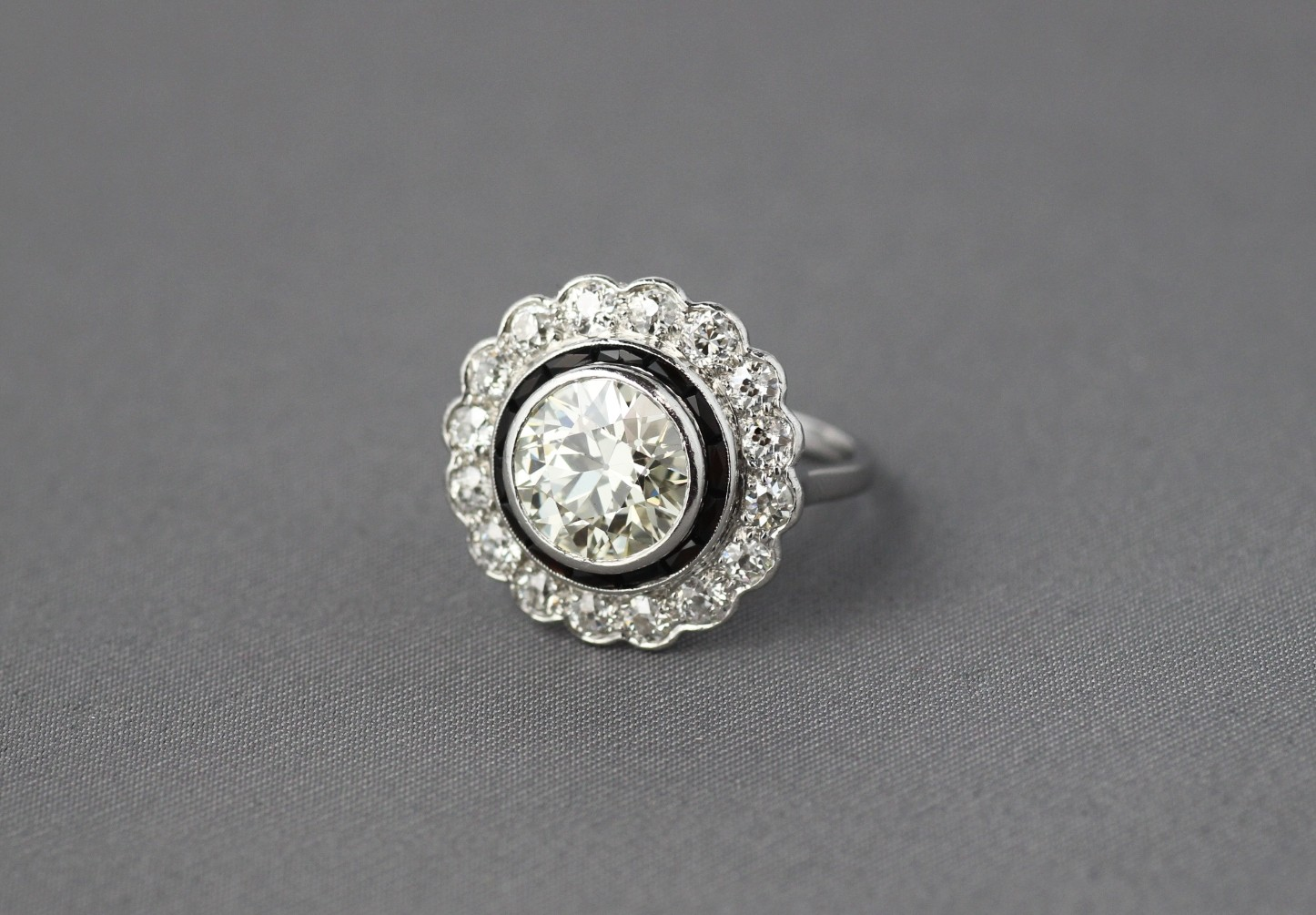 Vintage Diamond Halo Ring.