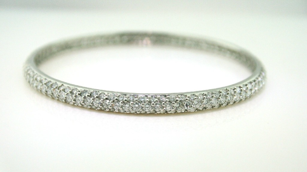 Platinum Diamond Bangle
