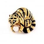 Yellow Gold Panther Pin