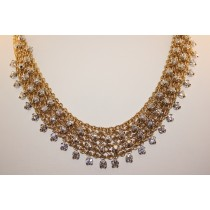 Hand made 18 karat diamond necklace.