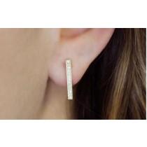 Bar Diamond Earrings