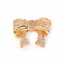 Diamond Bow Pin