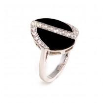 Black Onyx and Diamond Ring