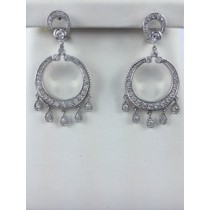 Beautiful diamond chandelier earrings.