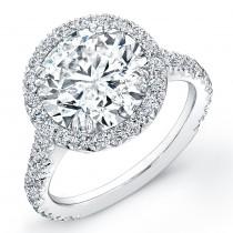 Platinum Diamond Halo Engagement Ring
