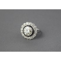 Vintage Diamond Halo Ring.