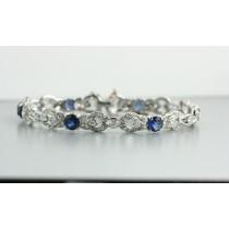 Antique Diamond and Sapphire Bracelet.