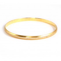 Yellow Gold Diamond Bangle
