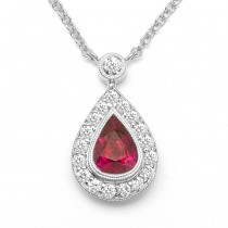 Diamond & Ruby Necklace