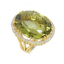 18K Yellow Gold Handmade Topaz Ring