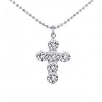 Platinum Diamond Cross Necklace