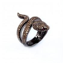 White Gold Snake Ring