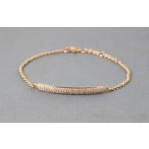 Diamond ID bracelet.