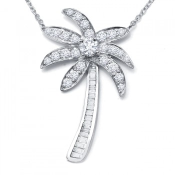 DIamond Palm Tree Necklace