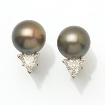 Platinum South Sea Earrings