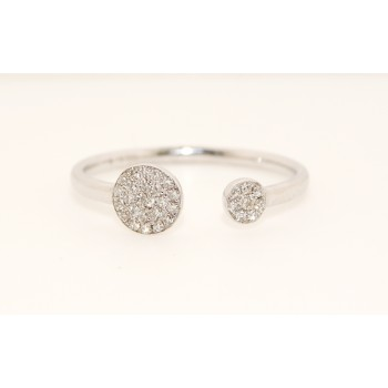 14K White Gold Double Disc Ring