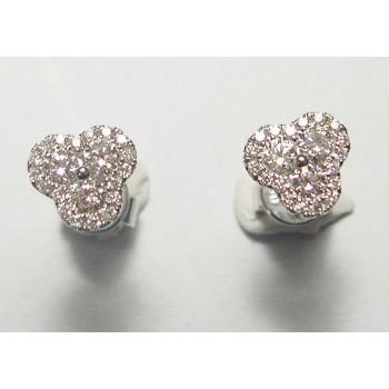 Diamond 3 sided stud earrings.