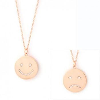 Happy Sad Face Necklace