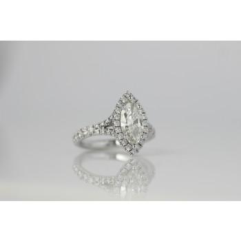 Platinum engagement ring.