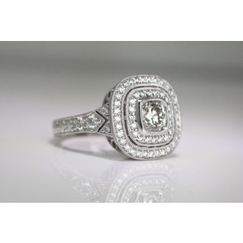 A Diamond platinum ring.