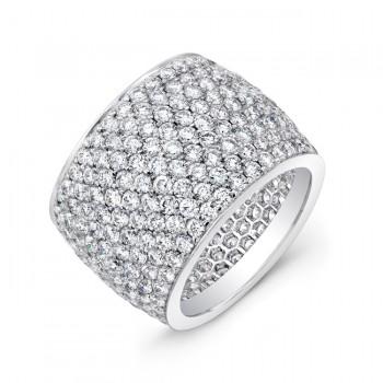 Platinum Diamond Wide Eternity Band