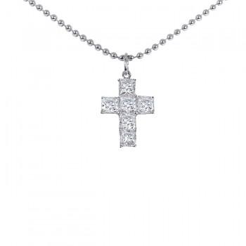 Platinum Diamond Cross