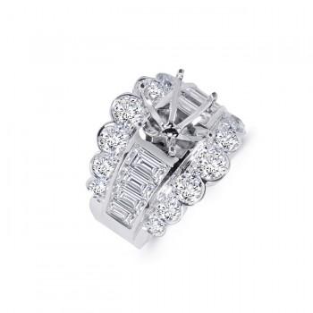 18K White Gold Diamond Engagement Ring
