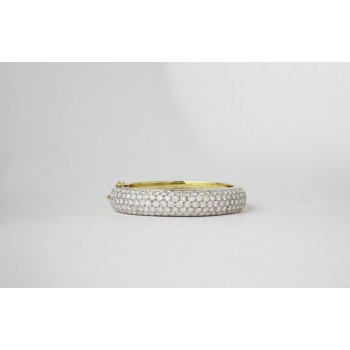 Wide pave Bangle.